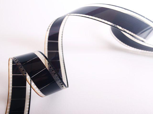 Zdjęcie przedstawiające taśmę filmową
